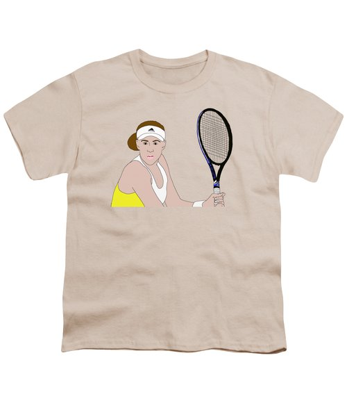 Tennis Player Youth T-Shirt by Priscilla Wolfe