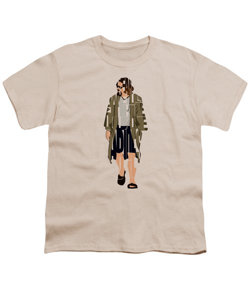 The Big Lebowski Inspired The Dude Typography Artwork Youth T-Shirt