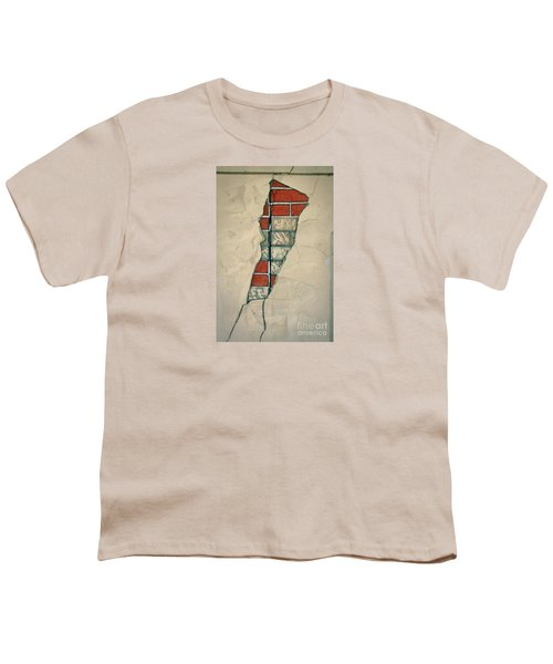 The Cracked Wall Youth T-Shirt by Nareeta Martin