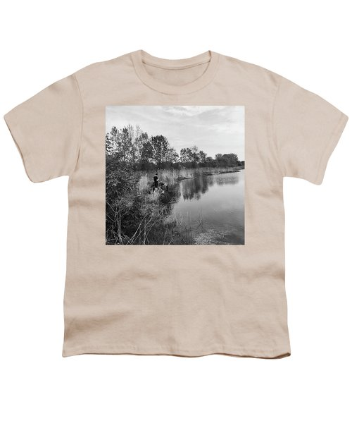 Moving The Water Youth T-Shirt by Frank J Casella