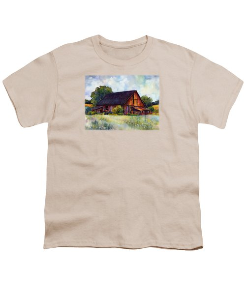 This Old Barn Youth T-Shirt by Hailey E Herrera