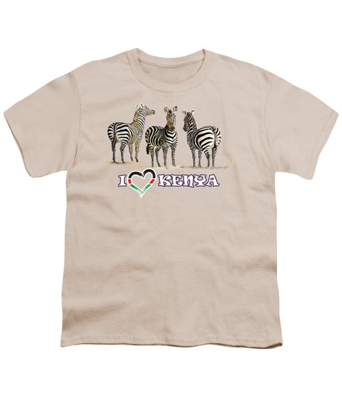 Three Zebras In Kenya Youth T-Shirt