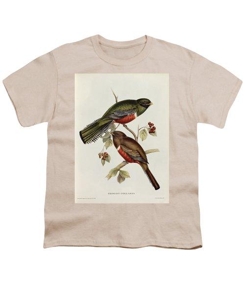 Trogon Collaris Youth T-Shirt by John Gould