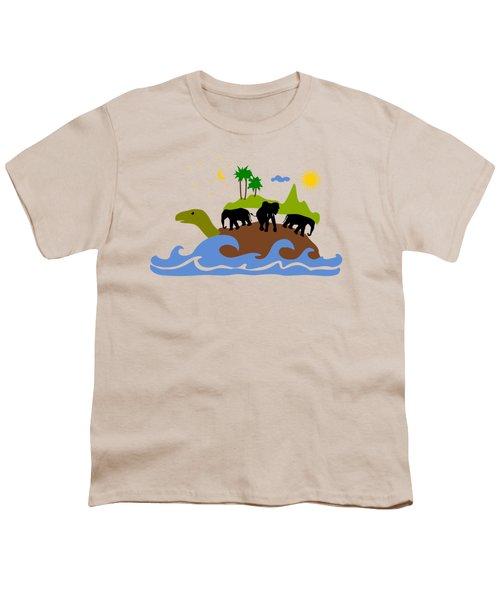 Turtles All The Way Down Youth T-Shirt by Anastasiya Malakhova