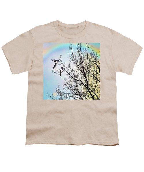 Two For Joy #nurseryrhyme Youth T-Shirt by John Edwards
