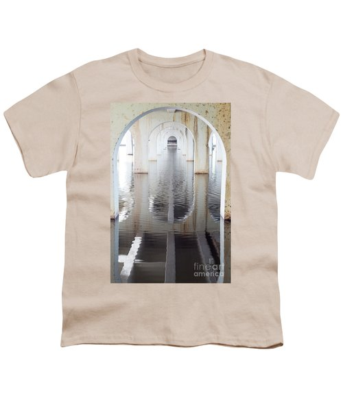 Youth T-Shirt featuring the photograph Under The Bridge by Linda Lees