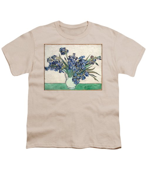 Youth T-Shirt featuring the painting Vase With Irises by Van Gogh