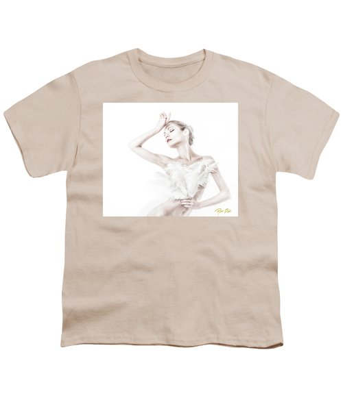 Viktory In White - Feathered Youth T-Shirt by Rikk Flohr