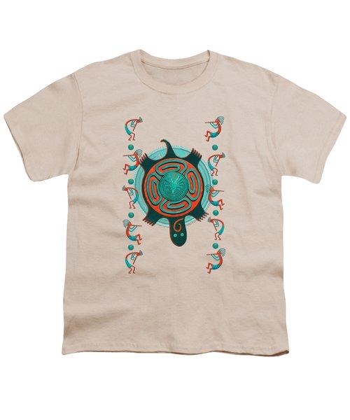 Visitors Anasazi 3d Folk Art Youth T-Shirt by Sharon and Renee Lozen