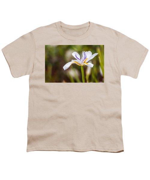 White Beardless Iris Youth T-Shirt