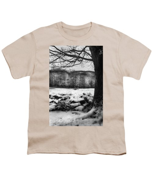 Youth T-Shirt featuring the photograph Winter Dreary by Bill Wakeley