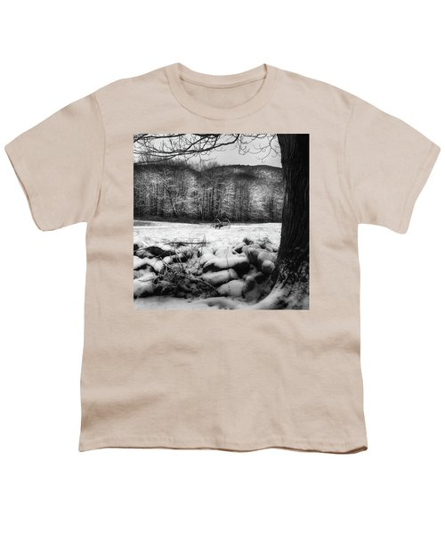 Youth T-Shirt featuring the photograph Winter Dreary Square by Bill Wakeley