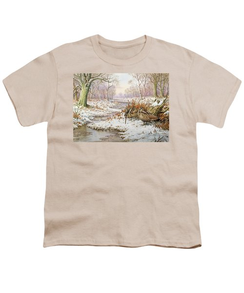 Woodcock Youth T-Shirt by Carl Donner