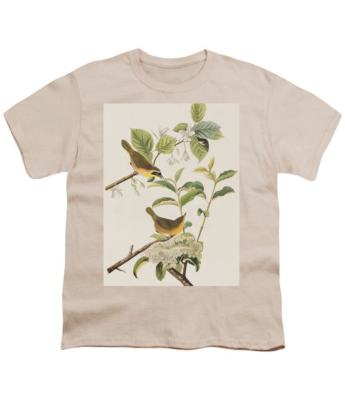 Yellow-breasted Warbler Youth T-Shirt by John James Audubon