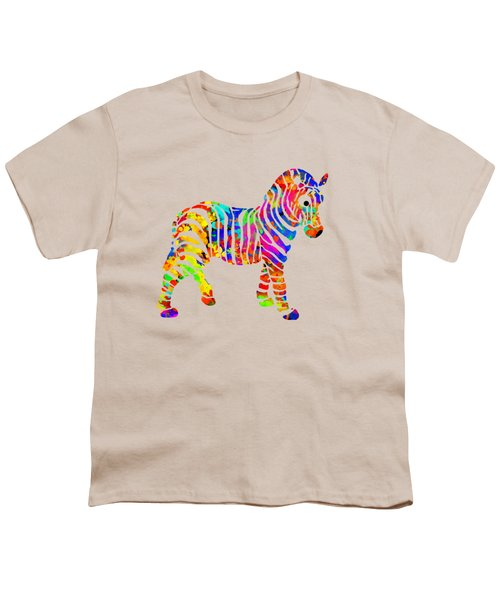 Zebra Youth T-Shirt by Christina Rollo