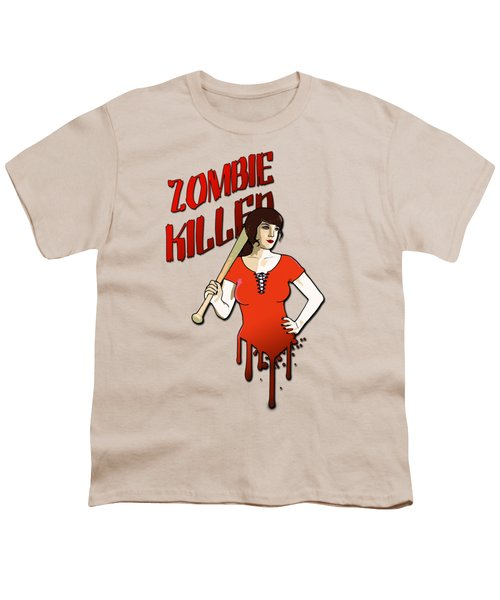 Zombie Killer Youth T-Shirt by Nicklas Gustafsson