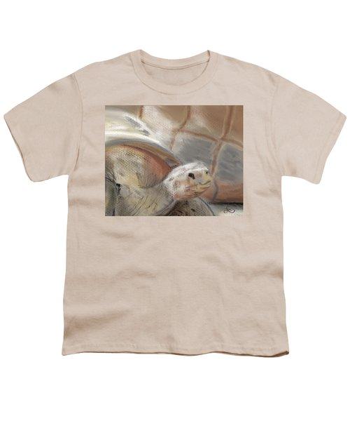 Youth T-Shirt featuring the digital art Sweet Tortoise by Fe Jones