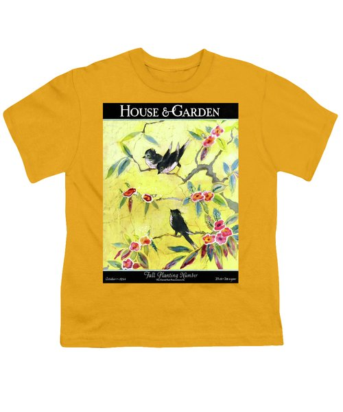 A House And Garden Cover Of Chickadees Youth T-Shirt