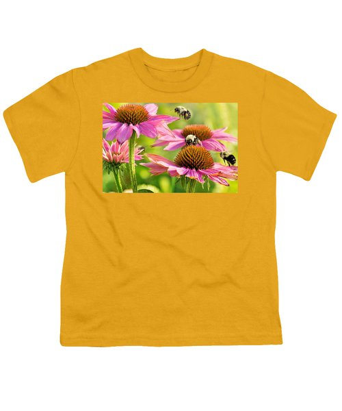 Bumbling Bees Youth T-Shirt by Bill Pevlor