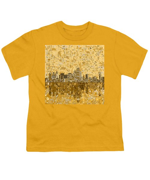 Dallas Skyline Abstract 6 Youth T-Shirt