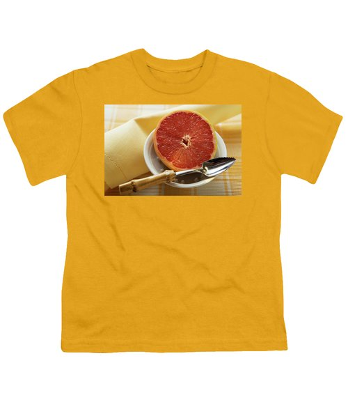 Grapefruit Half With Grapefruit Spoon In A Bowl Youth T-Shirt