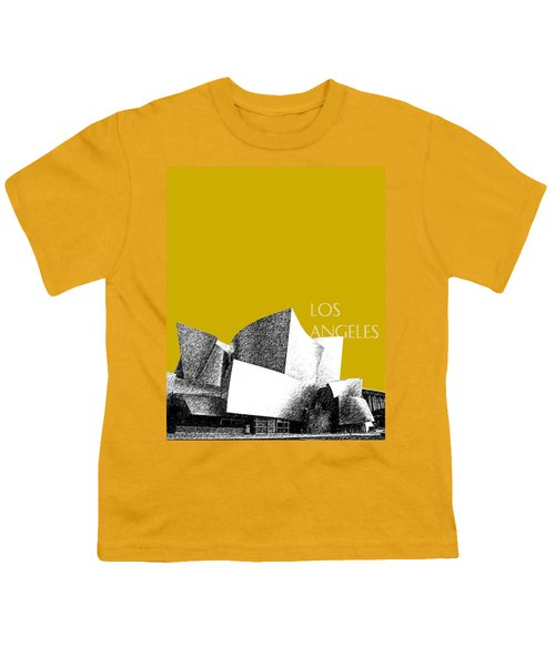Los Angeles Skyline Disney Theater - Gold Youth T-Shirt