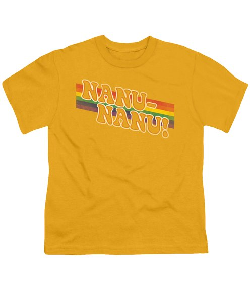 Mork And Mindy - Nanu Rainbow Youth T-Shirt