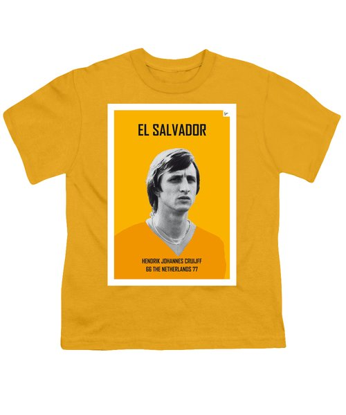 My Cruijff Soccer Legend Poster Youth T-Shirt by Chungkong Art