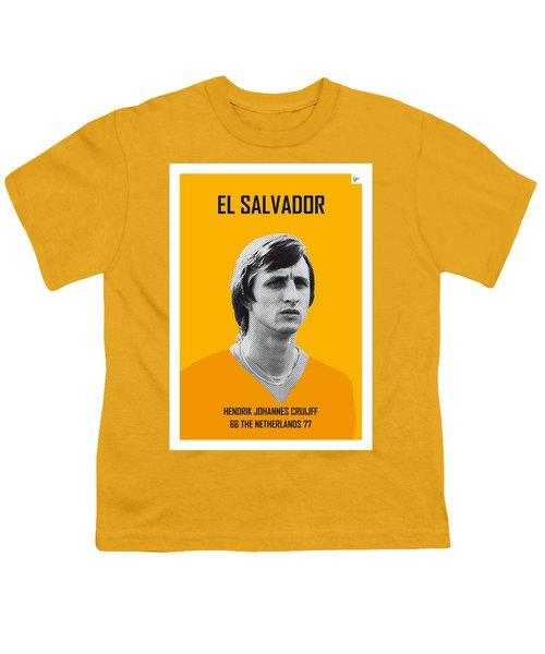 My Cruijff Soccer Legend Poster Youth T-Shirt