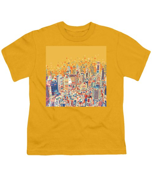 Philadelphia Panorama Pop Art Youth T-Shirt