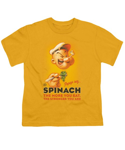 Popeye - Spinach Retro Youth T-Shirt by Brand A