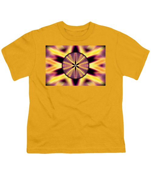 Rainbow Seed Of Life Youth T-Shirt by Derek Gedney