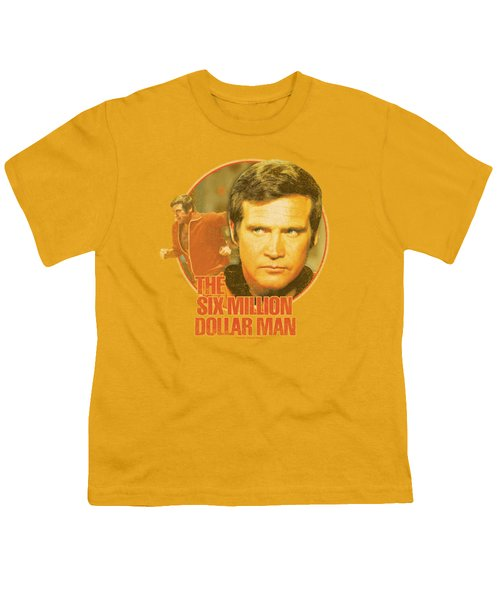 Six Million Dollar Man - Run Faster Youth T-Shirt