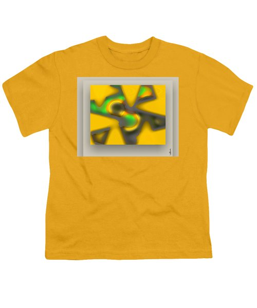 Youth T-Shirt featuring the digital art The New Game - Gray by Mihaela Stancu