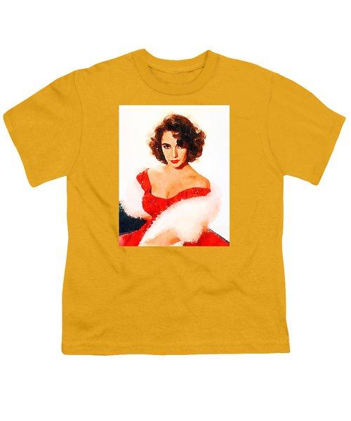 Elizabeth Taylor Youth T-Shirt by John Springfield