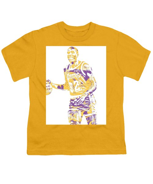 Magic Johnson Los Angeles Lakers Pixel Art 5 Youth T-Shirt