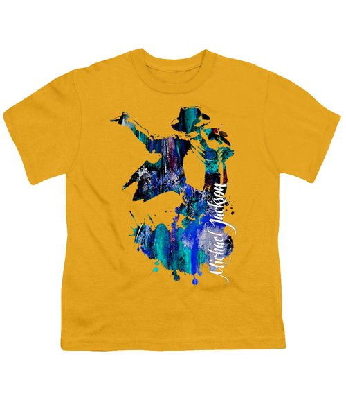 Michael Jackson Collection Youth T-Shirt by Marvin Blaine