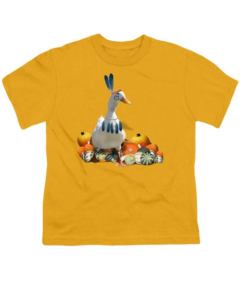 Indian Duck Youth T-Shirt by Gravityx9 Designs