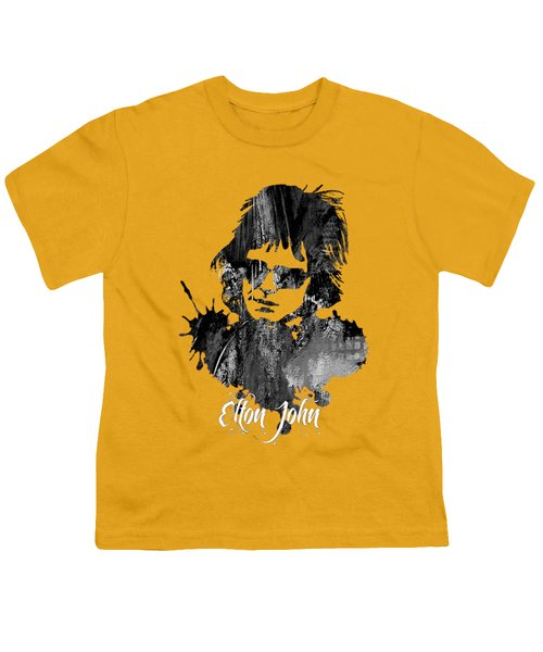 Elton John Collection Youth T-Shirt by Marvin Blaine