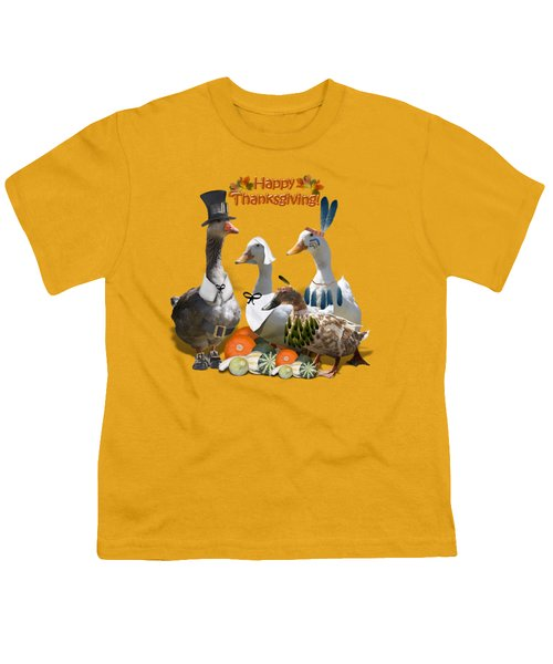 Thanksgiving Ducks Youth T-Shirt