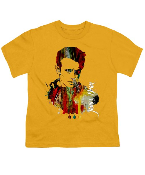 James Dean Collection Youth T-Shirt by Marvin Blaine