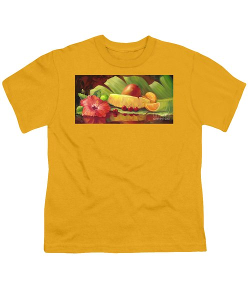 4 Cherries Youth T-Shirt by Laurie Hein