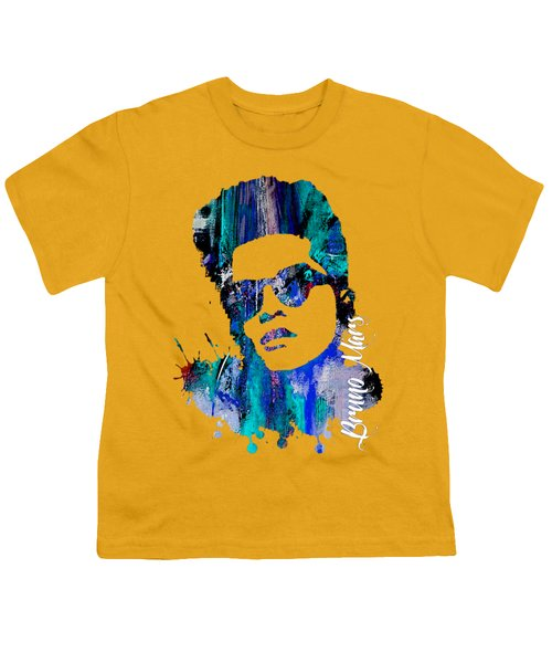 Bruno Mars Collection Youth T-Shirt by Marvin Blaine