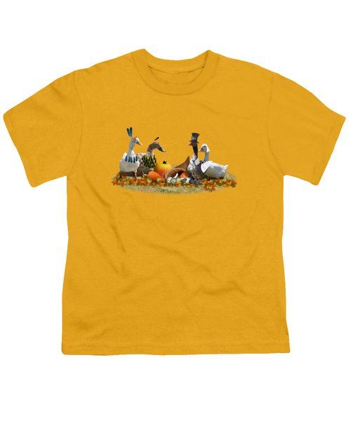 Thanksgiving Ducks Youth T-Shirt by Gravityx9  Designs