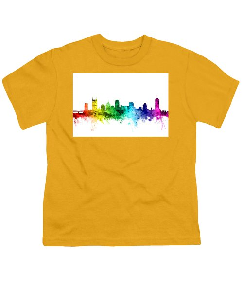 Nashville Tennessee Skyline Youth T-Shirt by Michael Tompsett