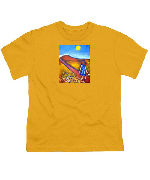 Youth T-Shirt featuring the painting A Sunny Path by Winsome Gunning