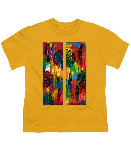 Abstract Boho Design - Diptych By Nikki And Kaye Menner Youth T-Shirt