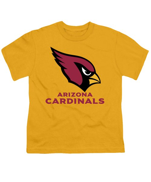 Arizona Cardinals On An Abraded Steel Texture Youth T-Shirt