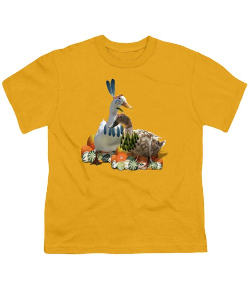 Thanksgiving Indian Ducks Youth T-Shirt
