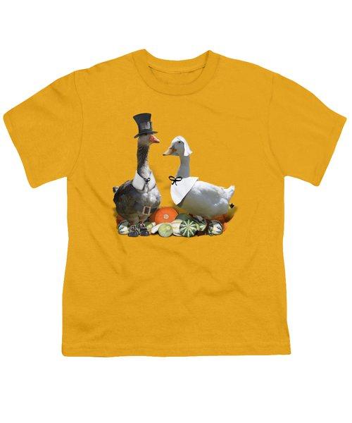Thanksgiving Pilgrim Ducks Youth T-Shirt